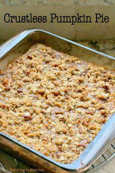 Grain Crazy: Crustless Pumpkin Pie (Gluten Free)