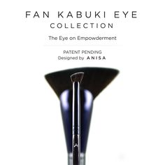 Our Fan Kabuki Soft Liner brush is angled for precise application and smooth lines.