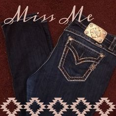 "Make an Offer! Miss Me Easy Skinny Jeans-no trades EUC. Super cute Miss Me jeans. Size 33, with a 33 inch inseam. ""Easy Skinny"" fit (they are more like a relaxed straight leg fit than a true skinny). Super cute metallic stitching. I love these jeans I just have way too many pairs haha. Please feel free to make an offer!!! Small free gift included Miss Me Jeans Straight Leg"