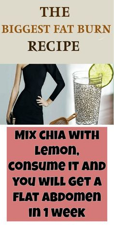 chia with lemon, consume it and you will have a flat ba . Mix chia with lemon, consume it and you will have a flat ba . Mix chia with lemon, consume it and you will have a flat ba . Melt Belly Fat, Belly Fat Diet, Lose Belly Fat, Belly Detox, Workout To Lose Weight Fast, Fast Weight Loss, How To Lose Weight Fast, Fat Workout, Loose Weight