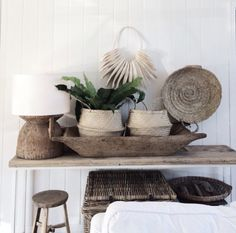 I love these contrasting textures natural materials such as linen and weathered wood to transforming this home into a tranquil retreat! The lack of clutter and the beautiful light create a sense of space. Vintage tables, benches as well as baskets and individually crafted items from different corners of the world bring some warmth and a homely feel. It's a simple, effortless style and no clutter! Take a look! #vintage #interior #decor