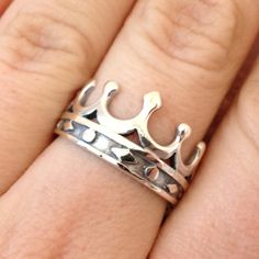 Sterling Silver Crown Ring by CorracaFineJewelry on Etsy, $48.99