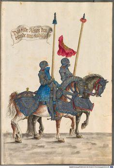 Hans Burgkmair, Turnierbuch - Kopie nach dem Original von Hans Burgkmair d.Ä. - BSB Cod.icon. 403, Augsburg, um 1540