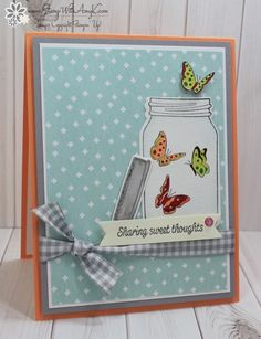 I used the Stampin' Up!Sharing Sweet Thoughts stamp set to create my card for the Happy Inkin' Thursday Blog Hop today. We've got a sketch challenge this week and thisis what I created for it. H…