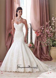 Alluring Satin Sweetheart Neckline Natural Waistline Mermaid Wedding Dress