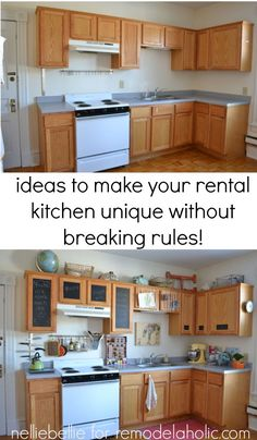 Great ideas to personalize your rental kitchen.                                                                                                                                                                                 More
