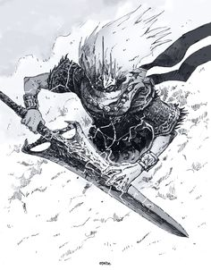 """The One Who Craves Souls — epebe:   Inktober 24. Nameless King  """"The..."""