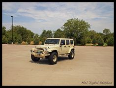Sahara Tan Jeep Wrangler Unlimited by MWButterfly, via Flickr