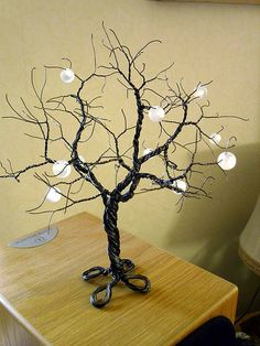 Wire tree | Wire tee made of twisted iron wire decorated wit… | Flickr