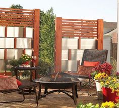 Wood and Aluminum Privacy Screens