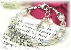 Personalized Baby Baptism Rosary Bracelet for Girls - White Pearl and Crystal - See more at: http://www.addictivejewelry.com/inc/sdetail/personalized_baby_baptism_rosary_bracelet_for_girls___white_pearl_and_crystal/260/4062#sthash.QKSFAT2N.dpuf