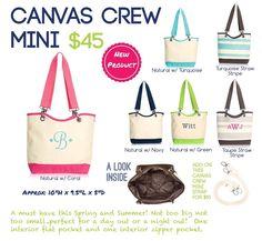Canvas Crew Mini is 50% off in Feb. 2015 with a $35 purchase! :) https://www.mythirtyone.com/angelahmiller/