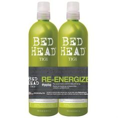 Bed Head Re-Energize Shampoo and Conditioner Duo, 25.36 oz by BedHead -- Read more info by clicking the link on the image. #hairandmakeup