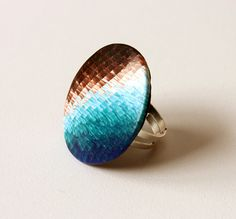 Polymer Clay Ring BrokenGradated by SilviaOrtizDeLaTorre on Etsy