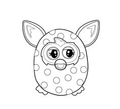 Furby coloring pages for kids, printable free