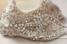 Snow Bridal Sash by MillieIcaro