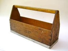 Search your grandpas garage for an old vintage tool box like this one to create a lovely row of herbs for a skinny spot on the balcony.