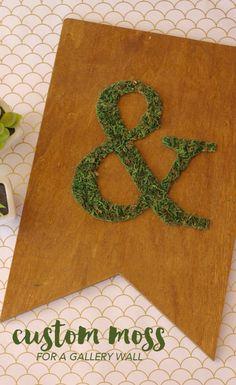 DIY Moss Plaque