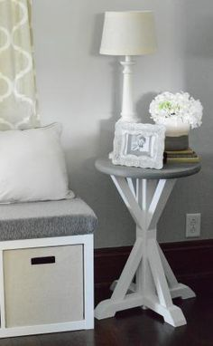 Round Trestle Table | Do It Yourself Home Projects from Ana White