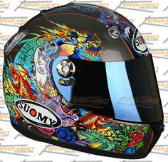 The vandal tattoo flash helmet by Suomy I've been in love with for years...shame all the reviews say it's stupidly noisy :(