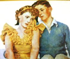 Young Love by Norman Rockwell Framed Litho MINt by ChinaGalore, $38.00