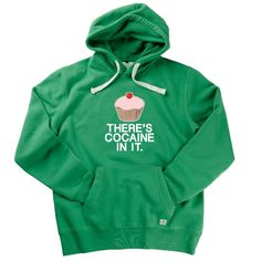 There's Cocaine In It Adult Father Ted Hoodie by Hairy Baby