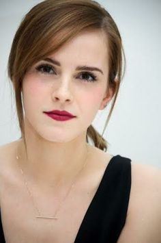 Emma Watson wearing Hirotaka Diamond Bar Necklace. Exclusive to Otte Ny Stores. Shop Hirotaka http://otteny.com/catalog.html/filter/designer/hirotaka