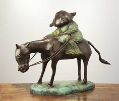 Long Road, Wu Jia Hui sculpture for sale at VanGoghle, Galerie Kunstbroeders Chinese Contemporary Art, Caricature, Lion Sculpture, Objects, Horses, Statue, Pure Products, Gallery, Artwork