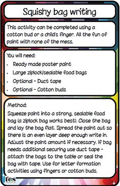 Mark-making with added sensory fun - from @TES_SEN