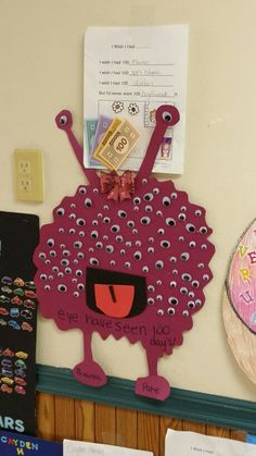 100 days of school poster! Eye have seen 100 hundred days!