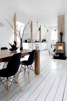 danish perfection....wood and black and white