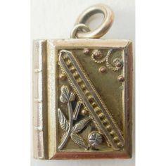 Victorian Gold Filled Book Locket Eastlake Style