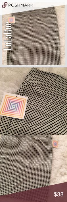 NWT LuLaRoe White & Black Cassie Plus-Size Skirt NWT LuLaRoe White & Black Polka Dot Cassie Plus-Size Skirt. Brand new. Conservative colors -- wear to work colors. LuLaRoe Skirts Pencil