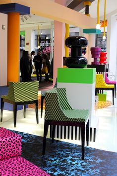 Kartell goes Sottsass in Milan with a tribute to Memphis /// More on Interiorator.com