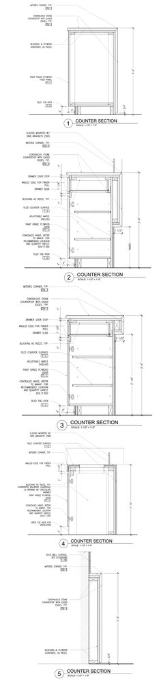 Casework/Millwork- Compartes Melrose / AAmp Studio @AAmpstudio #plan #section #detail