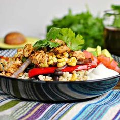 Chipotle Chicken Fajita Rice Bowl