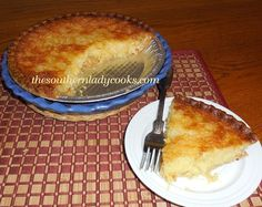 Pineapple Chess Pie  |  The Southern Lady Cooks