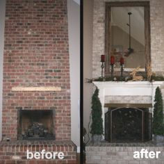 Painted brick fireplace  http://www.naturallycurly.com/curltalk/non-hair-discussion/57789-know-anything-about-remodeling-painted-brick-fireplace.html