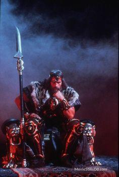 A gallery of Conan The Barbarian publicity stills and other photos. Featuring Arnold Schwarzenegger, Sandahl Bergman, James Earl Jones, Gerry Lopez and others. Barbarian Movie, Conan The Barbarian Comic, Fantasy Movies, High Fantasy, Fantasy Art, Red Sonja, Hobbit, Vikings, Conan Movie