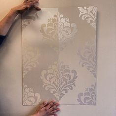 Tone On Tone Painting stencil how-to: easy sponge roller texture and stencil shadow