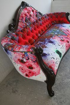 Furniture - Timorous Beasties Fabric by the yard Art Furniture, Graffiti Furniture, Funky Furniture, Refurbished Furniture, Plywood Furniture, Repurposed Furniture, Furniture Makeover, Painted Furniture, Furniture Design