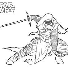 star wars comic book coloring pages   Click to see printable version of Kylo Ren Coloring page ...