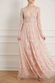 New Season Eleanor Gown in Powder Pink Source by dianindahpermat dresses muslim Couture Dresses, Fashion Dresses, Renaissance Fair Costume, Sheer Gown, Sequin Midi Dress, Ballerina Dress, Event Dresses, Simple Outfits, Beautiful Gowns
