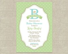 Baby Shower Invitations  B is for Baby ABC Alphabet by plushpaper, $25.00