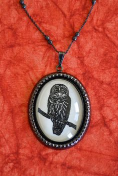 papercut Owl Necklace, pendant on chain - noir edition. 55.00, via Etsy.