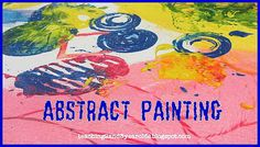 Teaching 2 and 3 Year Olds: Preschool Art: Painting with Utensils on Canvas