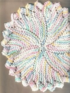 sew-funky: No # 1 Dishcloth | Crazy Daisy - My favorite circle dishcloth.