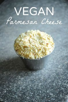 Takes only 2 minutes to make! Toss ¼ cup nutritional yeast, 1 cup raw almonds (… Takes only 2 minutes to make! Toss ¼ cup nutritional yeast, 1 cup raw almonds (unsalted) & 1 tsp salt into a food processor/blender and blend! Wasn't that fast? Vegan Cheese Recipes, Vegan Sauces, Vegan Foods, Vegan Dishes, Dairy Free Recipes, Raw Food Recipes, Parmesan Recipes, Almond Cheese Recipe, Gluten Free