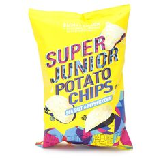 SUM X EMART - SUPER JUNIOR POTATO CHIPS (SEA SALT & PEPPER CORN) 150G