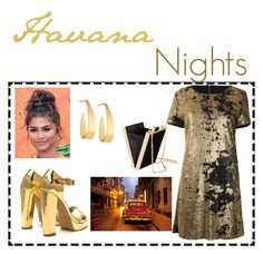 """""""Day 2: Havana Nights"""" by jurneefade ❤ liked on Polyvore featuring Coleman, Lana and H&M"""